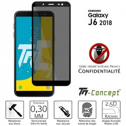 Samsung Galaxy J6 (2018) - Verre trempé Anti-Espions - Intégral Privacy - TM Concept®