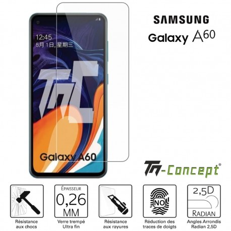 Samsung Galaxy A60 - Verre trempé TM Concept® - Gamme Crystal
