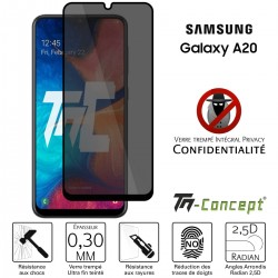 Samsung Galaxy A20 - Verre trempé Anti-Espions - Intégral Privacy - TM Concept®
