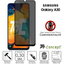 Samsung Galaxy A30 - Verre trempé Anti-Espions - Intégral Privacy - TM Concept®