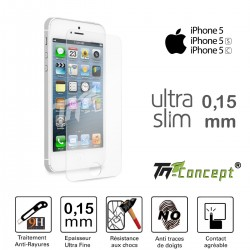 Apple iPhone 5 / 5C /5S - Vitre de Protection Ultra Slim 0,15 mm - TM Concept®