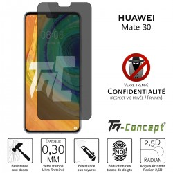Huawei Mate 30 - Verre trempé Anti-Espions - TM Concept®