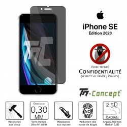 Apple iPhone SE (2020) - Verre trempé Anti-Espions - TM Concept®