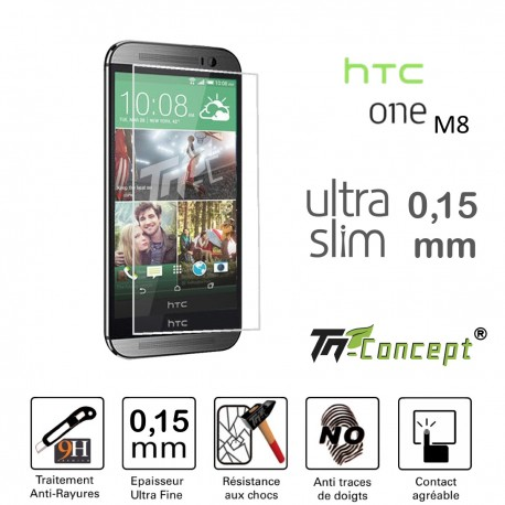 HTC One M8 - Vitre de Protection Ultra Slim 0,15 mm - TM Concept®