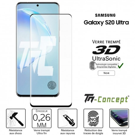 Samsung Galaxy S20 Ultra - Verre trempé 3D UltraSonic- TM Concept®