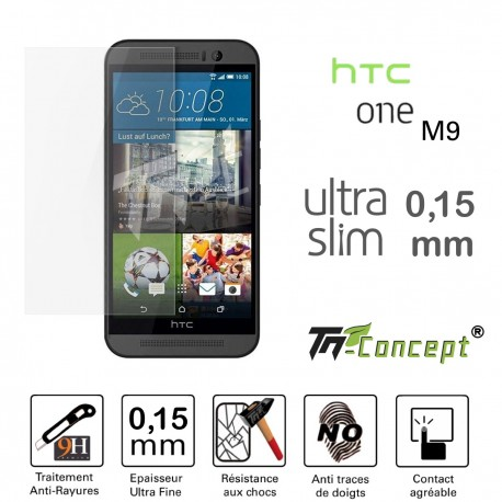 HTC One M9 - Vitre de Protection Ultra Slim 0,15 mm - TM Concept®