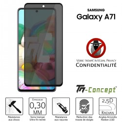 Samsung Galaxy A71 - Verre trempé Anti-Espions - Intégral Privacy - TM Concept®