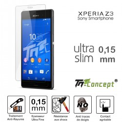 Sony Xperia Z3 - Vitre de Protection Ultra Slim 0,15 mm - TM Concept®