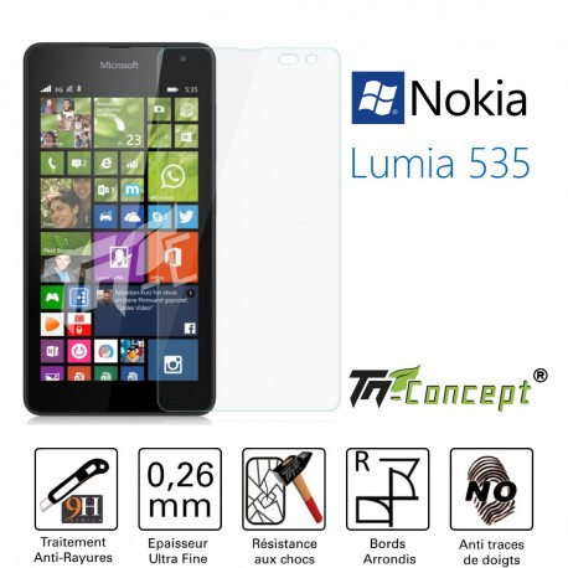 Nokia Lumia 535 - Vitre de Protection Crystal - TM Concept®