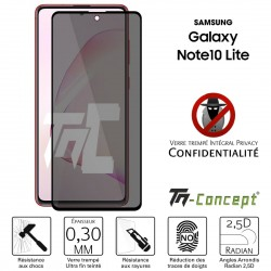 Samsung Galaxy Note 10 Lite - Verre trempé Anti-Espions - Intégral Privacy - TM Concept®