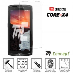 Crosscall Core X4 - Verre trempé TM Concept® - Gamme Crystal