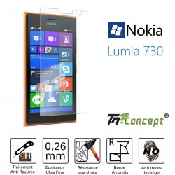 Nokia Lumia 730 - Vitre de Protection Crystal - TM Concept®