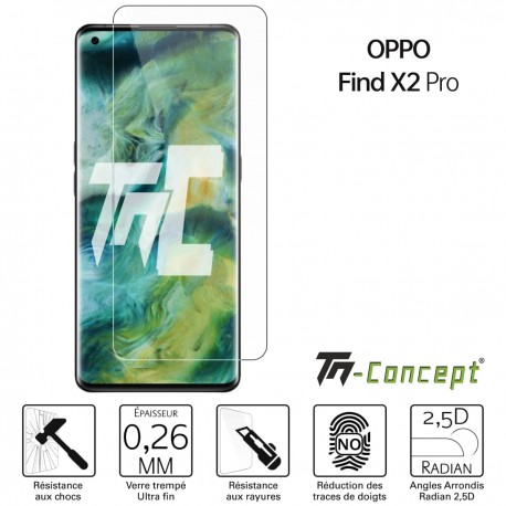 Oppo Find X2 Pro - Verre trempé TM Concept® - Gamme Crystal