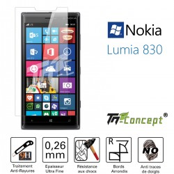 Nokia Lumia 830 - Vitre de Protection Crystal - TM Concept®