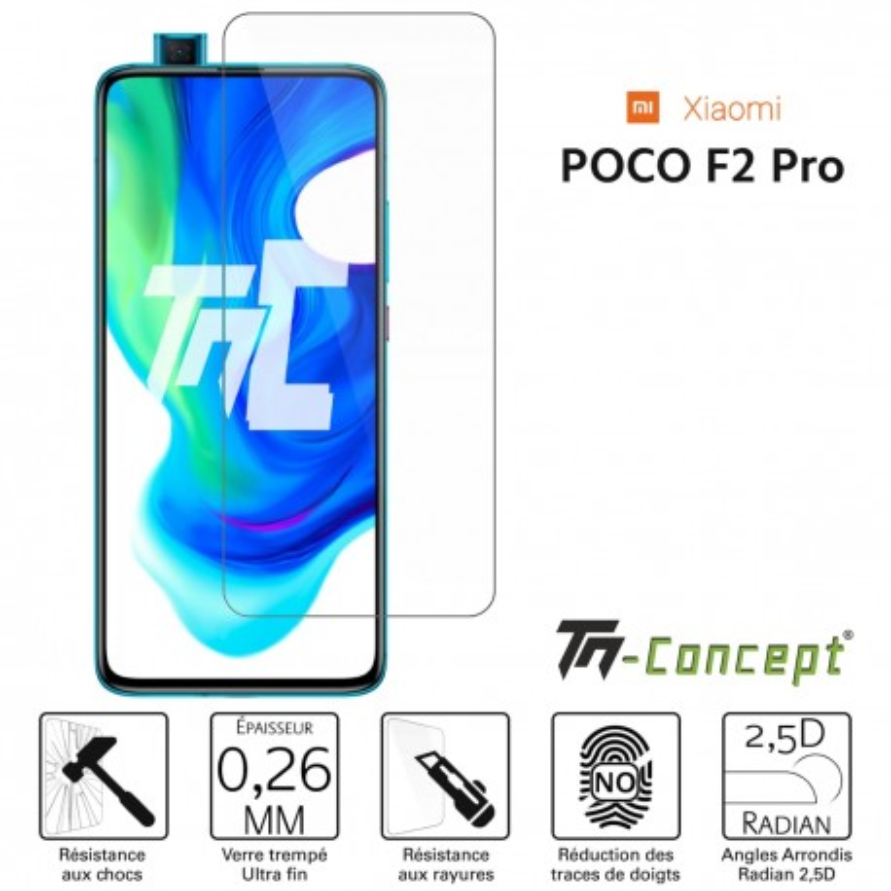 Xiaomi Poco F2 Pro - Verre trempé TM Concept® - Gamme Crystal