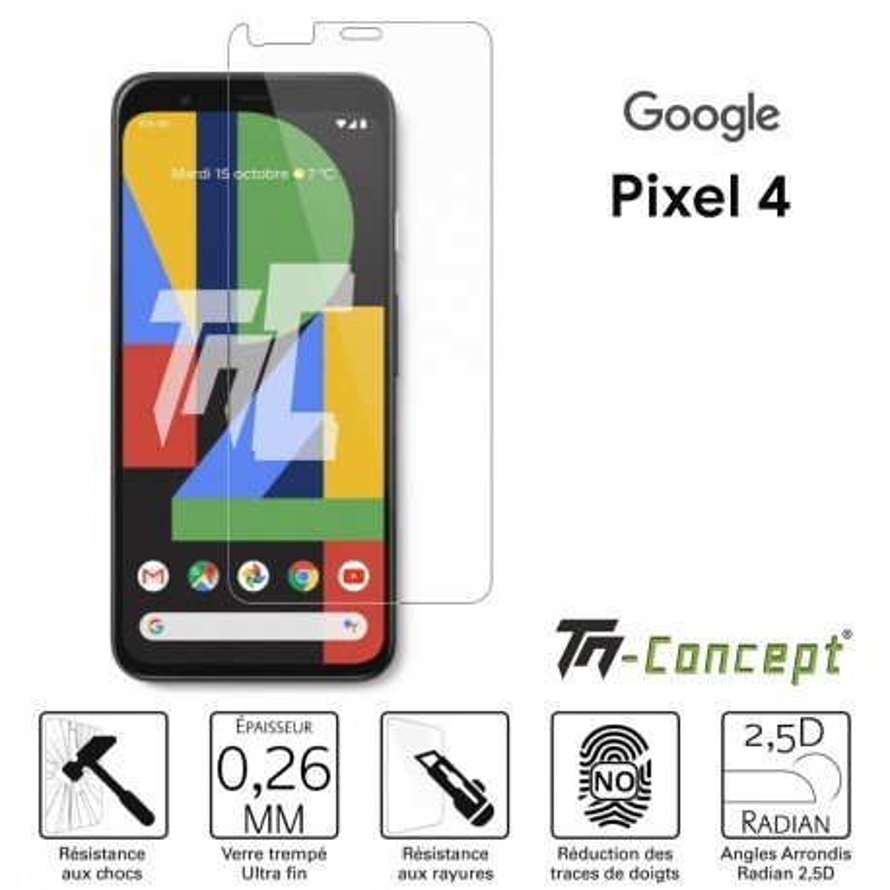 Google Pixel 4 - Verre trempé TM Concept® - Gamme Crystal
