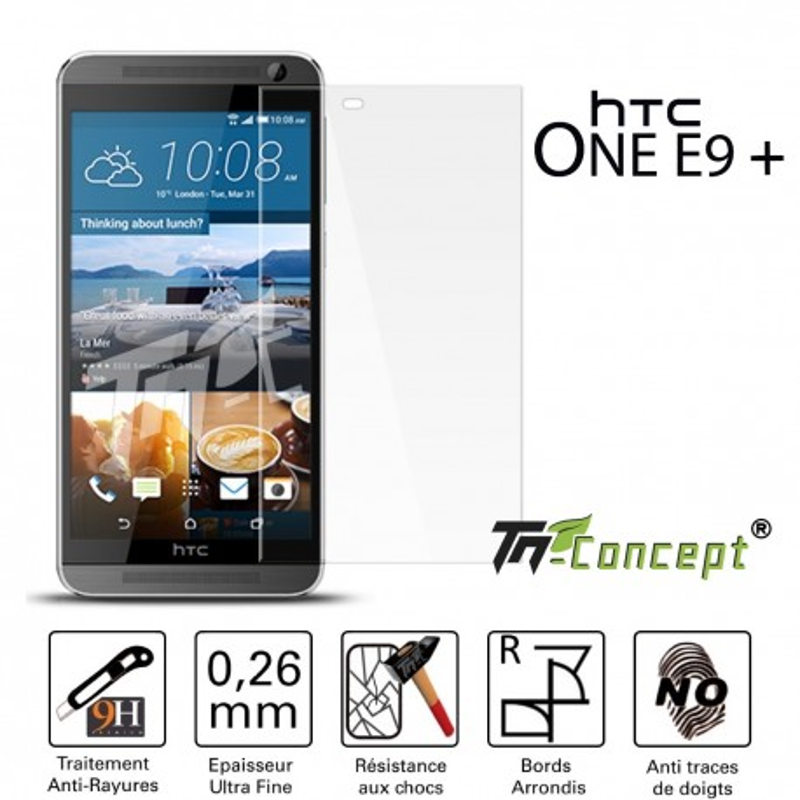 HTC One E9 Plus - Vitre de Protection Crystal - TM Concept®