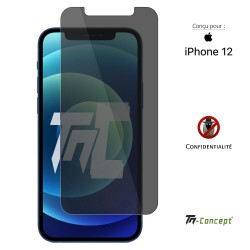 Apple iPhone 12 - Verre trempé Anti-Espions - TM Concept®