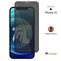 Apple iPhone 12 - Verre trempé Anti-Espions - Intégral Privacy - TM Concept®