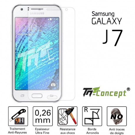 Samsung Galaxy J7 - Vitre de Protection Crystal - TM Concept®