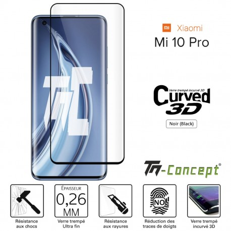 Xiaomi Mi 10 / Mi 10 Pro - Verre trempé 3D incurvé - TM Concept®