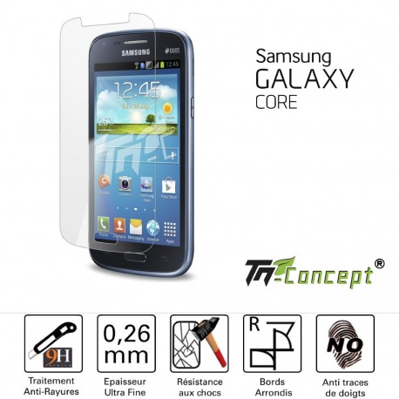 Samsung Galaxy Core - Vitre de Protection Crystal - TM Concept®