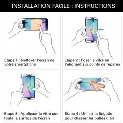 Samsung Galaxy A20e - Verre trempé intégral Protect Noir - adhérence 100% nano-silicone - TM Concept®