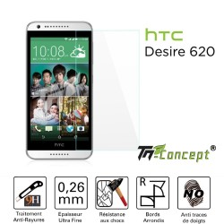 HTC Desire 620 - Vitre de Protection Crystal - TM Concept®