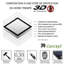 Xiaomi Redmi 10X - Verre trempé intégral Protect Noir - adhérence 100% nano-silicone - TM Concept®