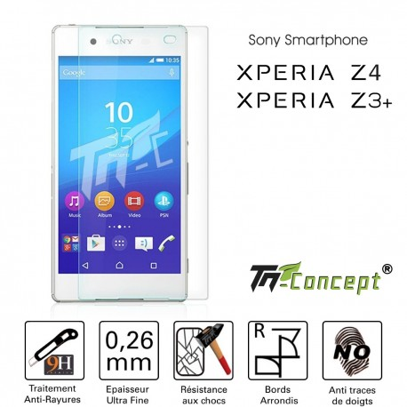 Sony Xperia Z4 (Z3 Plus) - Vitre de Protection Crystal - TM Concept®