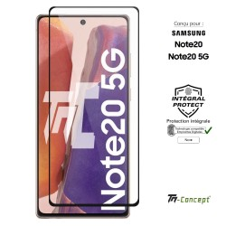 Samsung Galaxy Note 20 - Verre trempé intégral - Noir - Compatible empreinte digitale - TM Concept®
