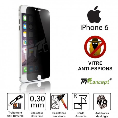 Apple Iphone 6 - Vitre de Protection Anti-Espions - TM Concept®