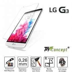 LG G3 - Vitre de Protection Crystal - TM Concept®