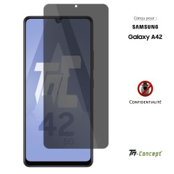 Samsung Galaxy A42 5G - Verre trempé Anti-Espions - TM Concept®