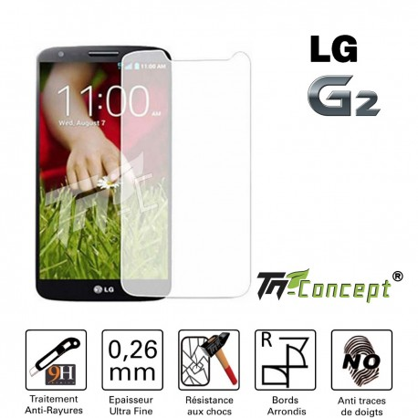 LG G2 - Vitre de Protection Crystal - TM Concept®