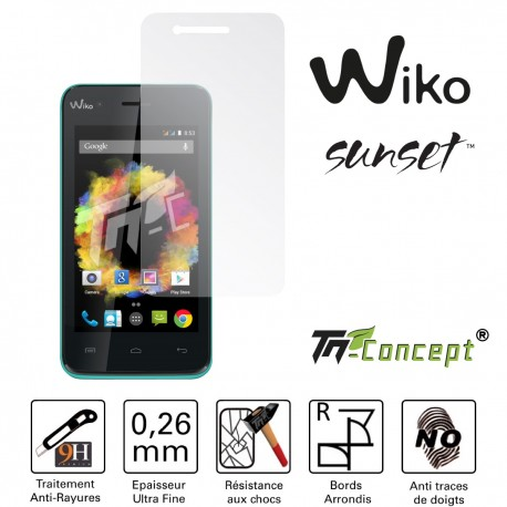 Wiko Sunset - Vitre de Protection Crystal - TM Concept®