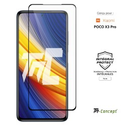 Xiaomi Poco X3 Pro - Verre trempé intégral Protect Noir - adhérence 100% nano-silicone - TM Concept®