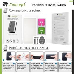 Xiaomi Redmi K40 - Verre trempé intégral Protect Noir - adhérence 100% nano-silicone - TM Concept®