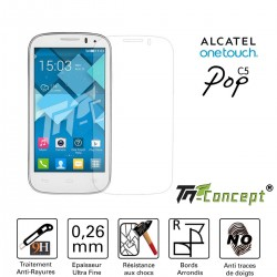 Alcatel Pop C5 - Vitre de Protection Crystal - TM Concept®