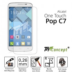 Alcatel Pop C7 - Vitre de Protection Crystal - TM Concept®