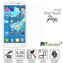 Alcatel Pop C9 - Vitre de Protection Crystal - TM Concept®
