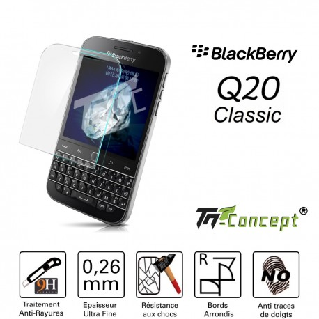 Blackberry Classic Q20 - Vitre de Protection Crystal - TM Concept®
