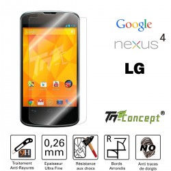 LG Google Nexus 4 - Vitre de Protection Crystal - TM Concept®