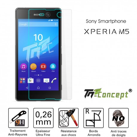 Sony Xperia M5 - Vitre de Protection Crystal - TM Concept®
