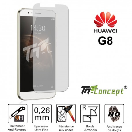 Huawei G8 - Vitre de Protection Crystal - TM Concept®